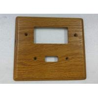 China Custom Wood Switch Plates And Outlet Covers Simple Finished 140 X 126 mm on sale