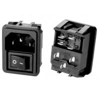 China IEC 60320 C14 3PIN Electrical AC Power Plugs Female Sockets 15A 250V AC Screw Mount With ON-OFF Switch on sale