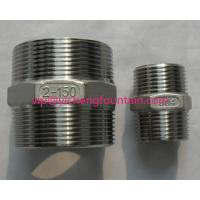 Stainless Steel NPT BSP Two Sides Male Thread Connector For Fountain Frame DN15 - DN200 Pipe Nipple