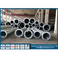 China Anti Corosion Steel Electric Pole , Steel Power Pole High Voltage Transmission Lines on sale