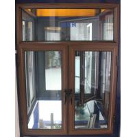 China 1.4mm profile thickness brand new aluminum casement windows wiht fly screen for commercial on sale