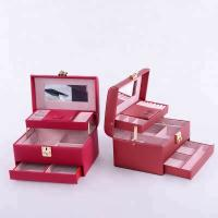 China Flannel Interior Travel Size Jewelry Box , Soft Lining Jewelry Carrying Case for sale