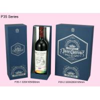 Wholesale Blue Paper Wine Box, Recyclable Single / Double Wine Packaging Boxes from china suppliers