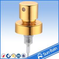 Wholesale Gold shiny aluminium Perfume Pump Sprayer , plastic spray pump from china suppliers
