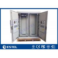 China Dual Bay IP55 Telecom Equipment Cabinete , Outdoor Power Enclosure With PDU Monitor on sale