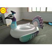 Best Inflatable Peacock Swimming Pool Floats Ride On Party Tube Giant Raft Lounge Toy wholesale