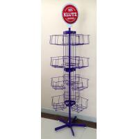 Best 4 Tier - Bin Spinner Metal Display Racks For Shopping And Commercial Malls wholesale