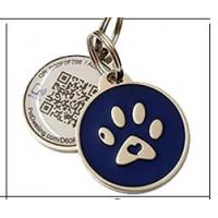 Quality Personalized Custom RFID Tags Metal Id QR Code Pet Tag For Dogs / Cats for sale