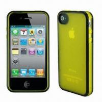 Wholesale Dual Color TPU Cases for iPhone 4/4S, Available in Various Colors from china suppliers