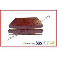 Leather Magnetic Box Customized Crocodile Leather Paper  Satin Covered Foam for sale