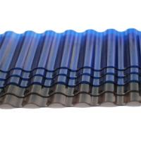 Wholesale Tinted Corrugated Plastic Sheets , Solar Polycarbonate Corrugated Roof Panel from china suppliers