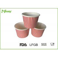 Wholesale 150ml Red Stripe Ice Cream Paper Cups For Children Party , SGS LFGB certification from china suppliers