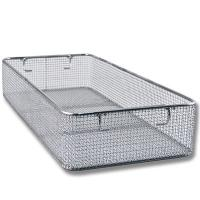 Woven Mesh Stainless Steel Wire Basket Tray For Hospital Surgical Instrument for sale