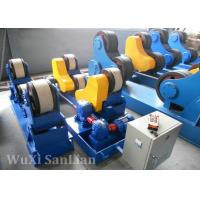 PU Wheel Pipe Turning Rolls / Conventional Welding Rotator HGZ-20 For Oil Tank