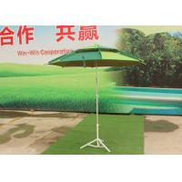 High Light Fiberglass Beach Umbrella Silver Coated For Commercial Street
