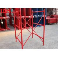 Safety Durable H Frame Scaffolding Lightweight With Q345 B Steel Materials