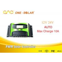 10A 12v/24v Pwm Solar Charger Intelligent Control Inverter Double Button for sale