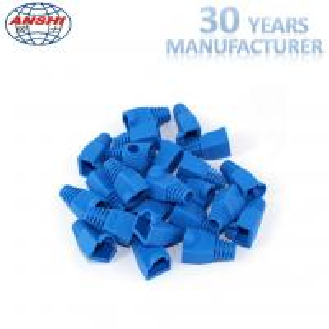 Wholesale Grey Blue RJ45 Keystone Jack RJ45 Plug Boot Female Diameter 5.5mm 6.0mm from china suppliers