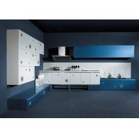 Best White Wood Grain Lacquer Kitchen Cabinets , Tall Kitchen Island Cabinets wholesale