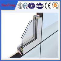 Wholesale Aluminium section 6063 extrusion profiles,standard size aluminium door and windows frame from china suppliers