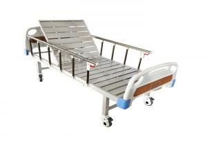 China Cheaper And Good Quality Customized Color Semi Fowler Bed Single Crank Manual Medical Hospital Bed on sale