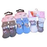 Wholesale OEM lovely Kids Terry Loop Socks with Jacquard / Embroidery / Woven label from china suppliers
