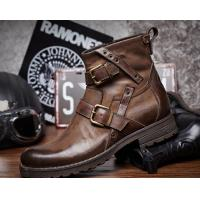 Wholesale Genuine Leather British Retro Mens Martin Boots / Trendy Chelsea Boots from china suppliers