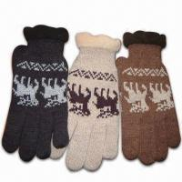 Wholesale Men's Acrylic Knitted Gloves with Thinsulate Lining from china suppliers