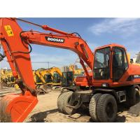 Wholesale 14T weight Used Wheel Excavator Doosan DH150W-7 4100 Working hours Doosan DB58TIS engine with Original Paint from china suppliers
