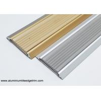 Wholesale 35 mm Width Flat Aluminium Threshold Strip With Anti Slip Rubber Insert from china suppliers