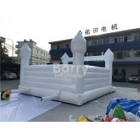 China Outside White Inflatable Bouncer ,  Wedding Jumping Bouncer For Rental Business for sale