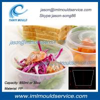 Wholesale 850ml extra large clear plastic disposable thin wall fruit bowl/ food bowl injection molds from china suppliers