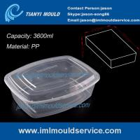 Wholesale PP clear 3600ml thin wall plastic stackable food /vegetable storage containers mould from china suppliers