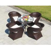 Wholesale Synthetic PE Rattan wicker chair Outdoor Patio furniture sets Dining chair and Coffe table from china suppliers