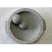 Wholesale Food Safe Stone Mortar And Pestle Molcajete Guacamole With Handles from china suppliers