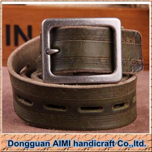 China AIMI Fashion mens leather belts for men belt, wholesale men's leather belt on sale