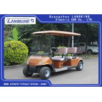 Wholesale Golden Color Electric Four Passenger Golf Cart With 48V Battery For Sightseeing CE Approved from china suppliers