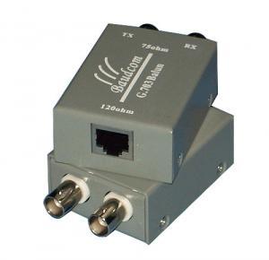 Quality Single Port G.703 E1 Balun Adapter Dual Coax to RJ45 Converter for sale