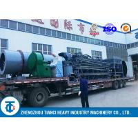 OPC Drum Coating Machine / Rotary Coater Compound Fertilizer Use Oil Pump Driven for sale