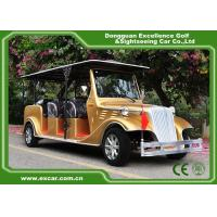 Luxurious Golden Classic Car Golf Carts 6 Person Whole Metal Body for sale