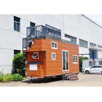 China Laminated Flooring Prefabricated Tiny House On Wheels Light Steel Frame on sale