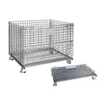 Wholesale Galvanized Mesh Storage Cage Wire Mesh Container 4.8-6.0mm Wire Dia from china suppliers