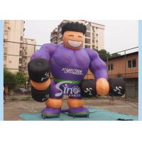 Wholesale Purple Shirt Advertising Inflatables Muscle Man Commercial Grade for promotion used from china suppliers