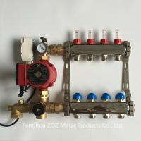 China 4 Loop Heating Manifold with Mixing Valve and Pump  ,Hight quality underfloor water heating system stainless steel manif for sale