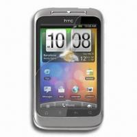 Wholesale Clear Mobile Phone Screen Protector for HTC WildFire S, with Transparent PET Material from china suppliers