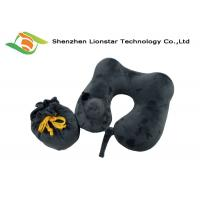 Wholesale Logo Weaved Inflatable Travel Pillow , U Shape Velvet Inflatable Air Pillow from china suppliers