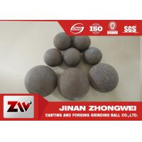 Forged and high cr cast grinding ball for ball mill used in mining