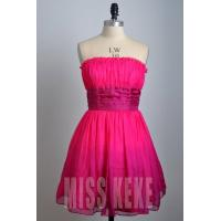 Wholesale Wholesale rose knee-length strapless silk party dress homecoming dress from china suppliers