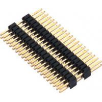 1.27mm Pin Header Connector Dual Row Double Plastic PA9T Black Pcb Pin Connector
