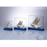 Wholesale Wooden Base Arab Cultural Souvenirs / Fish Boat Model With Custom Flag from china suppliers